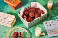 """All the warm, spicy flavors of your favorite holiday cookie in an extra-dense chocolate brownie that's perfect for gifting. <a href=""""https://www.epicurious.com/recipes/food/views/gingerbread-brownies?mbid=synd_yahoo_rss"""" rel=""""nofollow noopener"""" target=""""_blank"""" data-ylk=""""slk:See recipe."""" class=""""link rapid-noclick-resp"""">See recipe.</a>"""