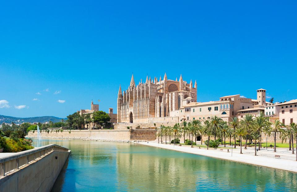 The beautiful city of Palma is a must-see in Mallorca. (Getty Images)