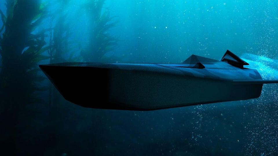 An underwater fast strike vehicle, one of many designs created by young engineers from UK Naval Engineering Science and Technology (Royal Navy/Ministry of Defence/Crown Copyright/PA) (PA Media)