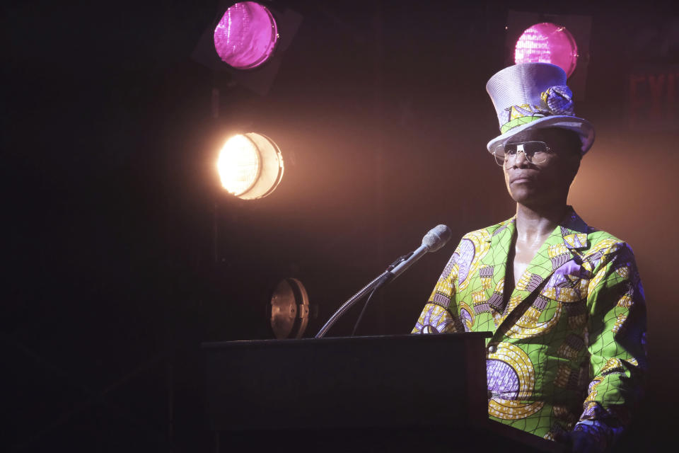 """This image released by FX shows Billy Porter in a scene from """"Pose."""" A new study by the advocacy group GLAAD says that TV is building on its record of inclusiveness. GLAAD said Thursday that the percentage of LGBTQ major characters on broadcast networks reached an all-time high this season of just over 10%. """"Pose"""" and """"Batwoman"""" are among the shows contributing to a surge in LGBTQ and gender inclusiveness on television, according to a new study by the advocacy group GLAAD. (JoJo Whilden/FX via AP)"""