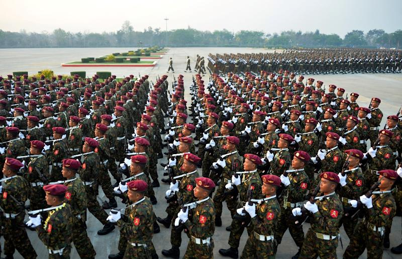 China and Russia have emerged as the biggest sellers of military hardware to Myanmar (AFP Photo/Thet AUNG)