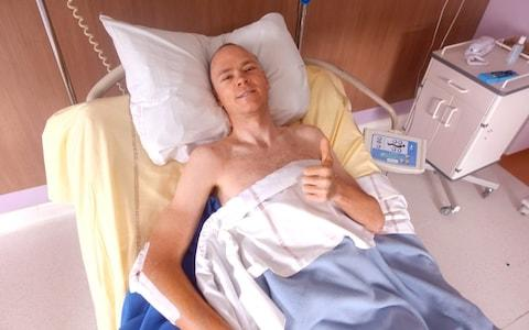<span>Chris Froome gives the thumbs up from his hospital bed</span> <span>Credit: chris froome </span>