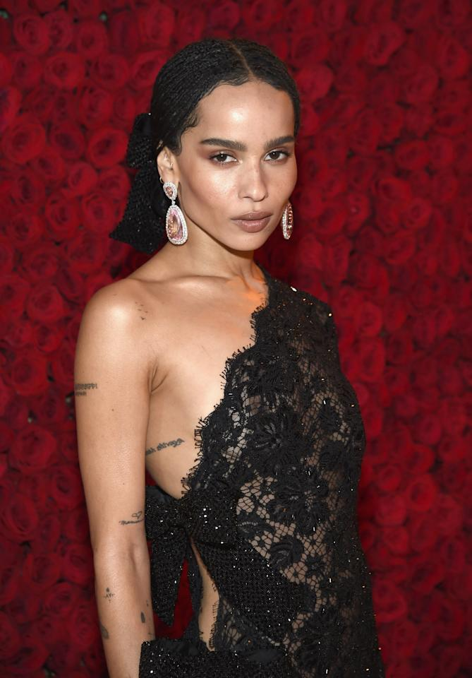 """<p>The <strong>Big Little Lies</strong> star has <a href=""""https://www.popsugar.com/entertainment/zoe-kravitz-cast-as-catwoman-in-the-batman-46761510"""" class=""""ga-track"""" data-ga-category=""""Related"""" data-ga-label=""""https://www.popsugar.com/entertainment/zoe-kravitz-cast-as-catwoman-in-the-batman-46761510"""" data-ga-action=""""In-Line Links"""">officially been cast as the iconic cat burglar</a>! We can't wait to see sparks fly between her and Pattinson's Dark Knight.</p>"""