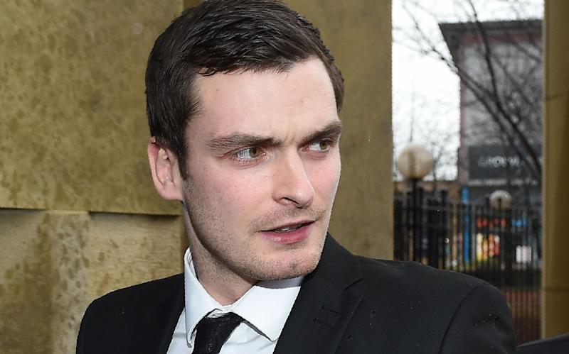 Adam Johnson outside Bradford Crown Court in 2016 - AFP