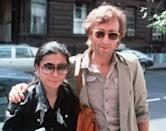John Lennon e Yoko Ono a New York, 22 agosto 1980. (AP Photo/Steve Sands, File)