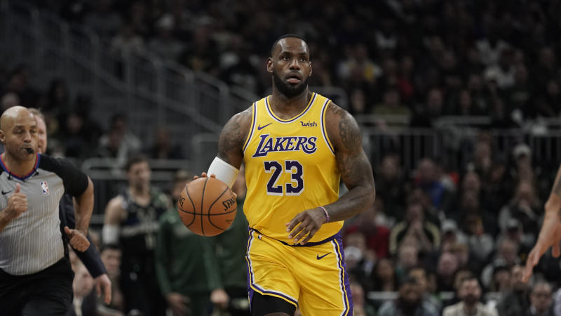 LeBron will sit for the first time this season for Sunday's game against the Nuggets. (AP Photo/Morry Gash)