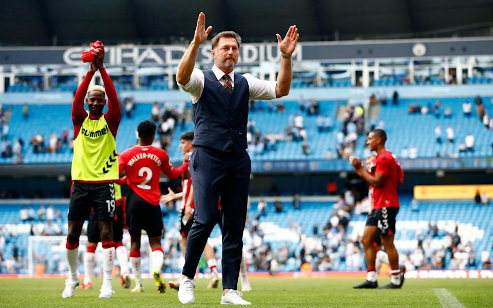 Southampton manager Ralph Hasenhuttl acknowledges the fans after the match - Reuters