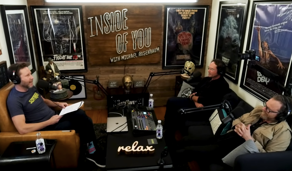 Michael Rosenbaum hosts Jason Patric and Kiefer Sutherland on his podcast, 'Inside of You' (Photo: YouTube)
