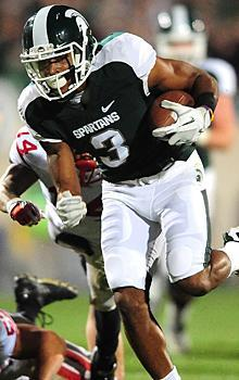 B.J. Cunningham broke loose for a 35-yard touchdown reception as Michigan State put together a complete performance