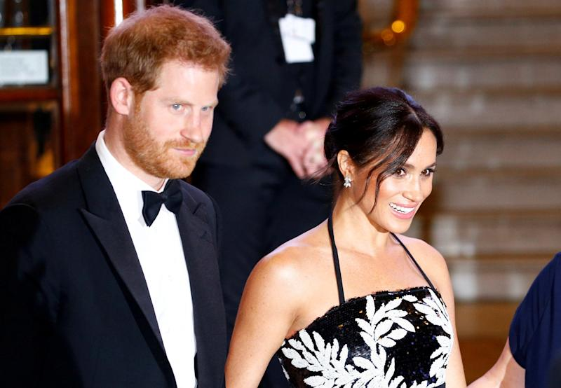 Prince Harry and Meghan Markle at the Royal Variety Show (REUTERS)
