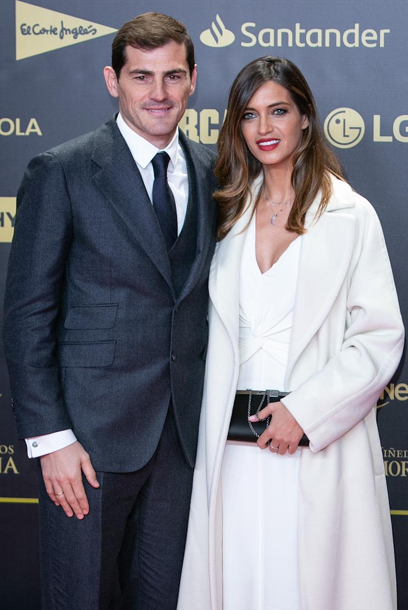 MADRID, SPAIN - DECEMBER 13: (L-R) Iker Casillas and his wife Sara Carbonero attend the 80th Anniversay of 'Marca' Newspaper at Royal Palace on December 13, 2018 in Madrid, Spain. (Photo by Paolo Blocco/WireImage)