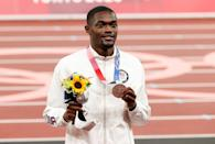 """<p>Biography: 24 years old</p> <p>Event: Men's 400m hurdles</p> <p>Quote: """"I cried a little bit. It's going to be a lot to process this next 24 hours, but I am really happy to be a part of history like this, just to show where this event can go.""""</p>"""