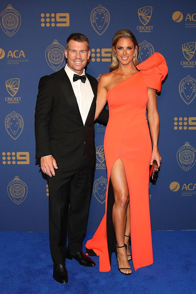 <p>It was Australian cricket's night of nights on Monday, but it was the WAGs who stole the spotlight on the blue carpet.</p>