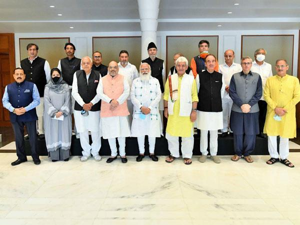 14 prominent leaders from the Union Territory attended all Party meeting with PM on June 24. (File photo/ANI)