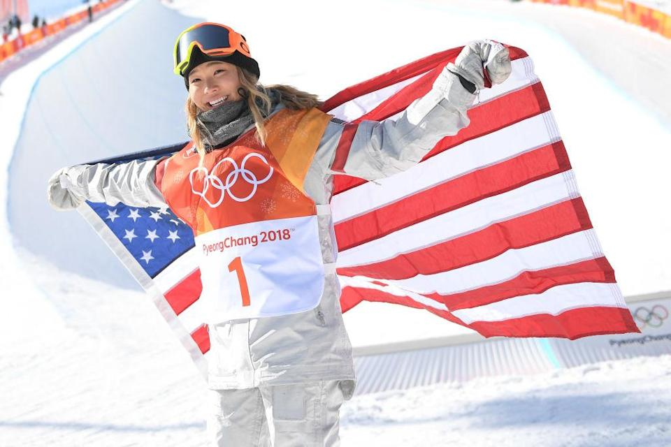 Chloe Kim had both of the top two runs in the women's Olympic halfpipe final. (Getty)