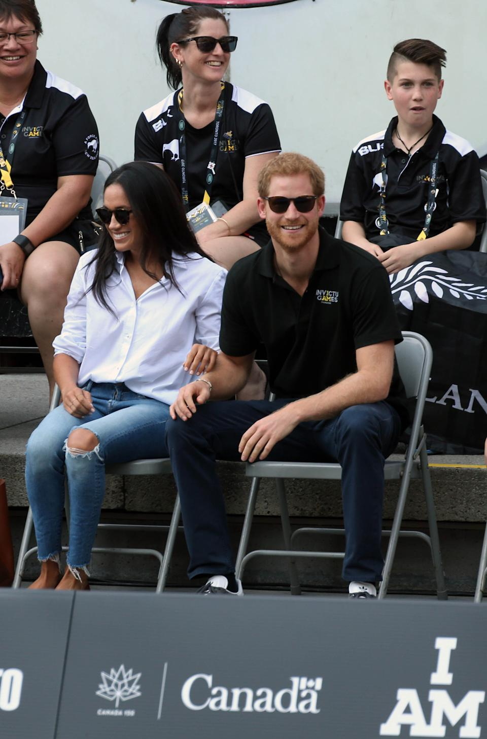Prince Harry and Meghan Markle wedding date announced as May 19, 2018.   File Photo by: KGC-22/STAR MAX/IPx 2017 9/25/17 Prince Harry and Meghan Markle are seen at The Invictus Games in Toronto, Ontario, Canada.