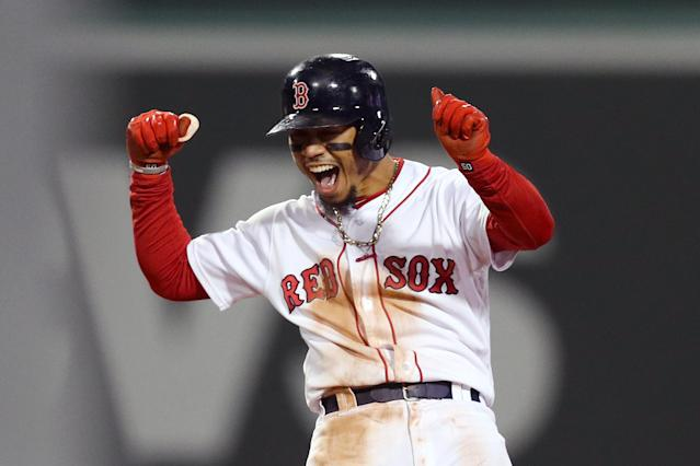 Boston Red Sox outfielder Mookie Betts is a better person than you. (Getty Images)