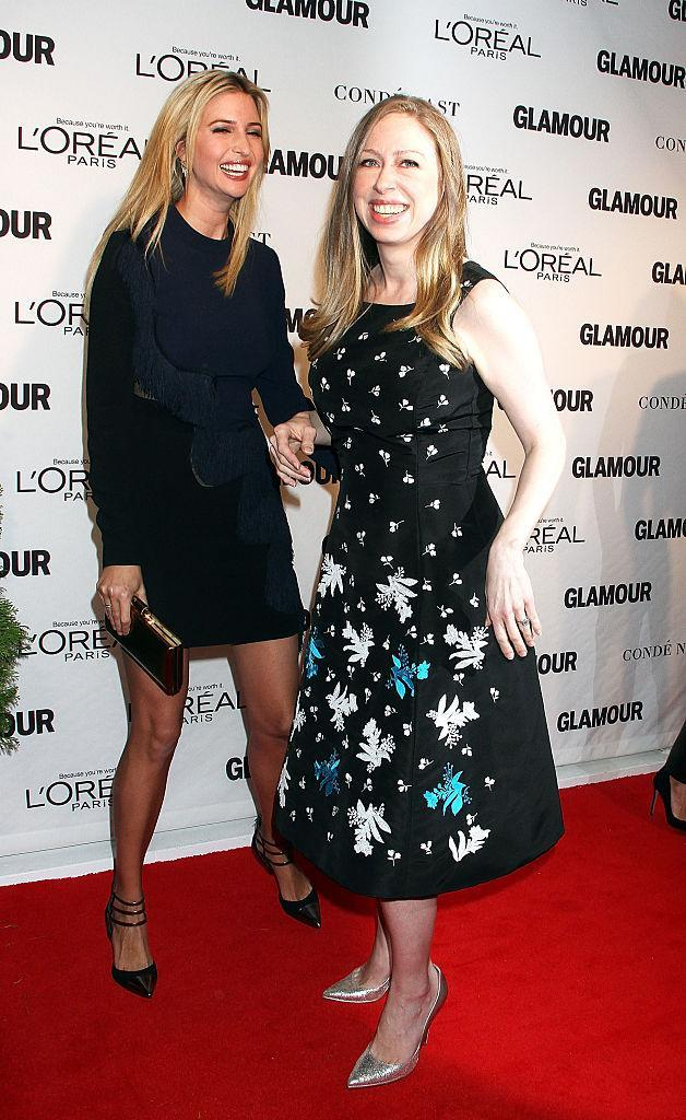 Ivanka Trump and Chelsea Clinton in 2014. (Photo: Getty Images)