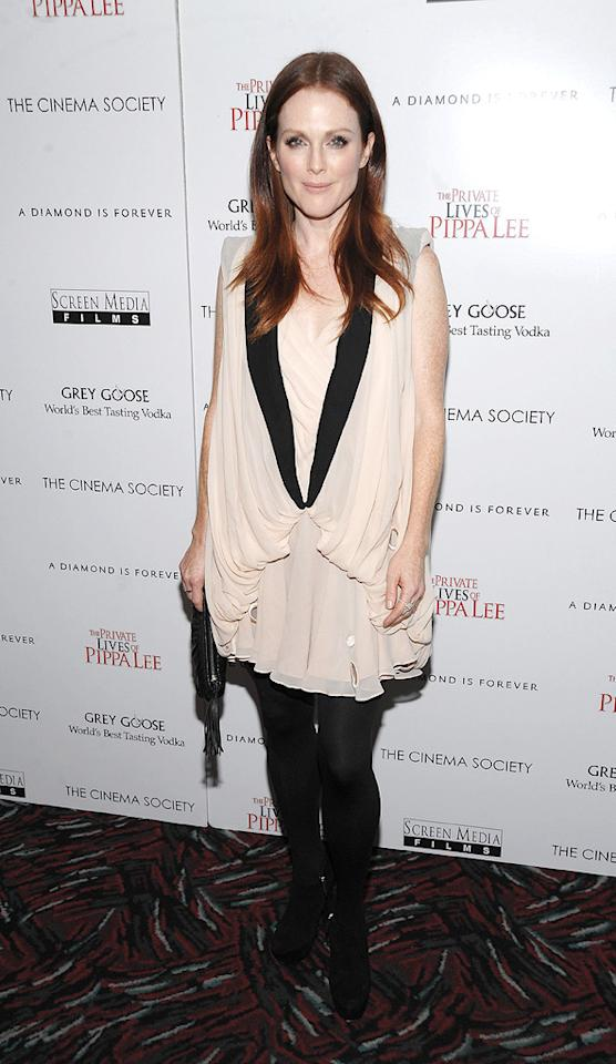 """<a href=""""http://movies.yahoo.com/movie/contributor/1800020233"""">Julianne Moore</a> at the New York City Cinema Society screening of <a href=""""http://movies.yahoo.com/movie/1810025242/info"""">The Private Lives of Pippa Lee</a> - 11/15/2009"""