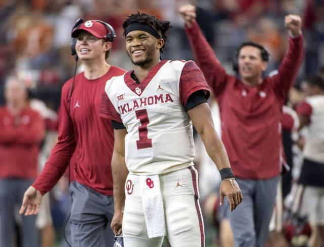 Can Kyler Murray join short list of Heisman Trophy winners to make an impact in MLB? (AP)