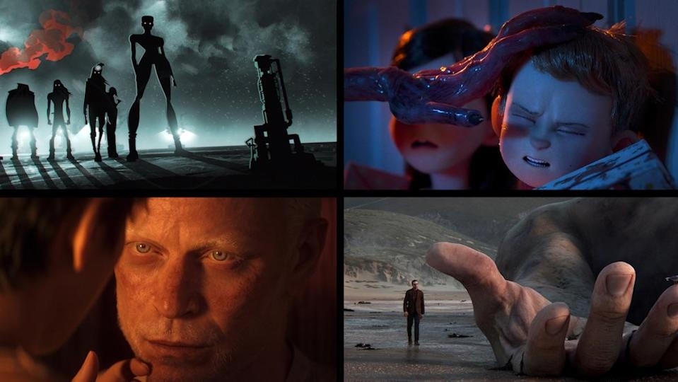 Four screenshots from volume two of Netflix's death Love + Robots