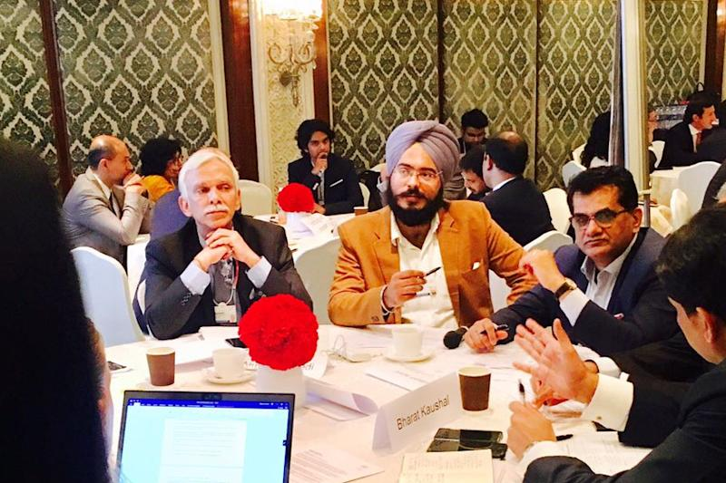 Twenty-six-year-old Singh, who  addressed the forum on 'Private Public Partnership and Its Future in India' on Wednesday, is the youngest among four business delegates selected from India for the annual meet.