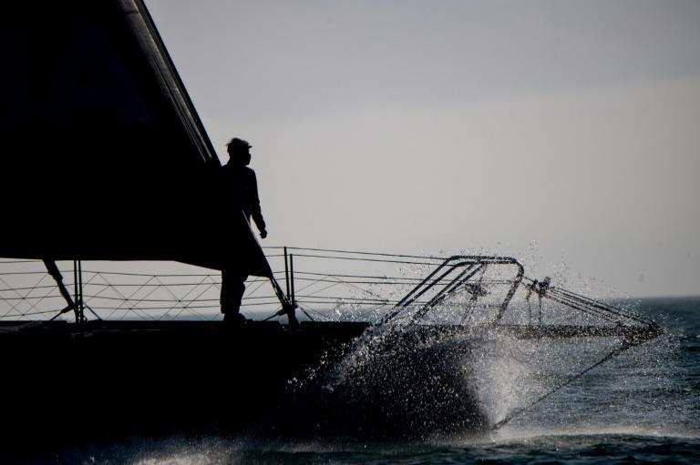 Alex Thomson, in his Imoca 60 Hugo Boss, was leading the Vendee Globe on Friday as the skippers head into Storm Theta