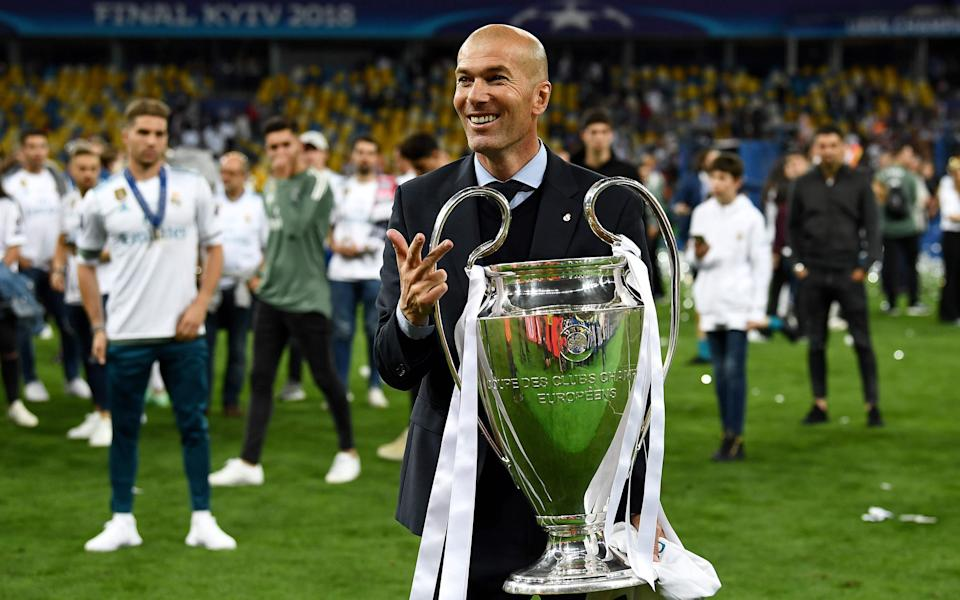 Time to recharge: Zinedine Zidane says he has no plans for a quick return to the game
