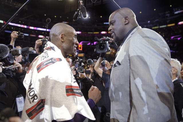 Shaquille O'Neal expressed regret over not talking more with Bryant when he had the chance. (AP Photo/Jae C. Hong)