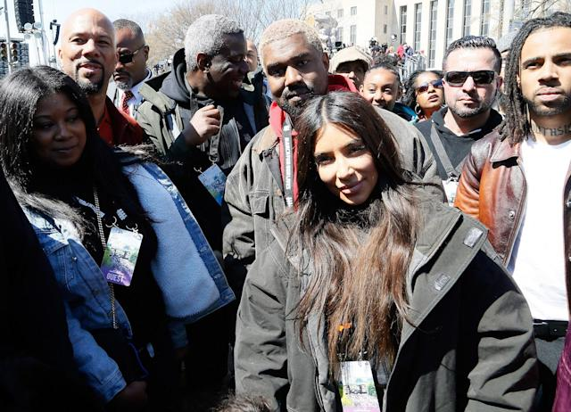 <p>Kanye West and Kim Kardashian West attend March For Our Lives in Washington, D.C. (Photo: Getty Images) </p>