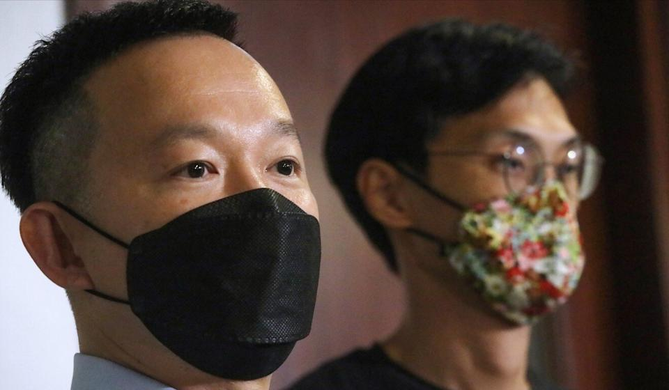 Lawmaker Raymond Chan Chi-chuen (left) had launched a rare private prosecution over his alleged assault. Photo: K. Y. Cheng