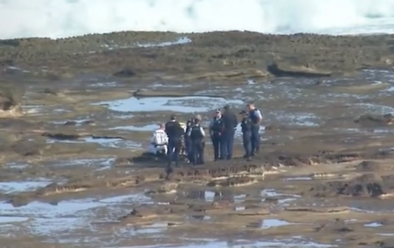 Emergency crews tend to the scene in La Perouse. Source: Nine News