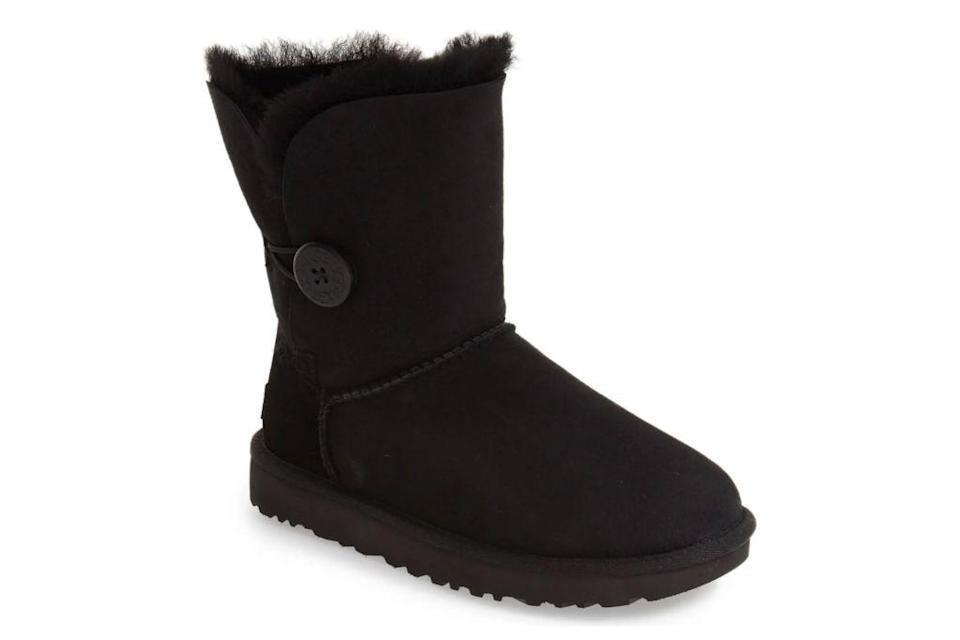 ugg, bailey button ii, black boots