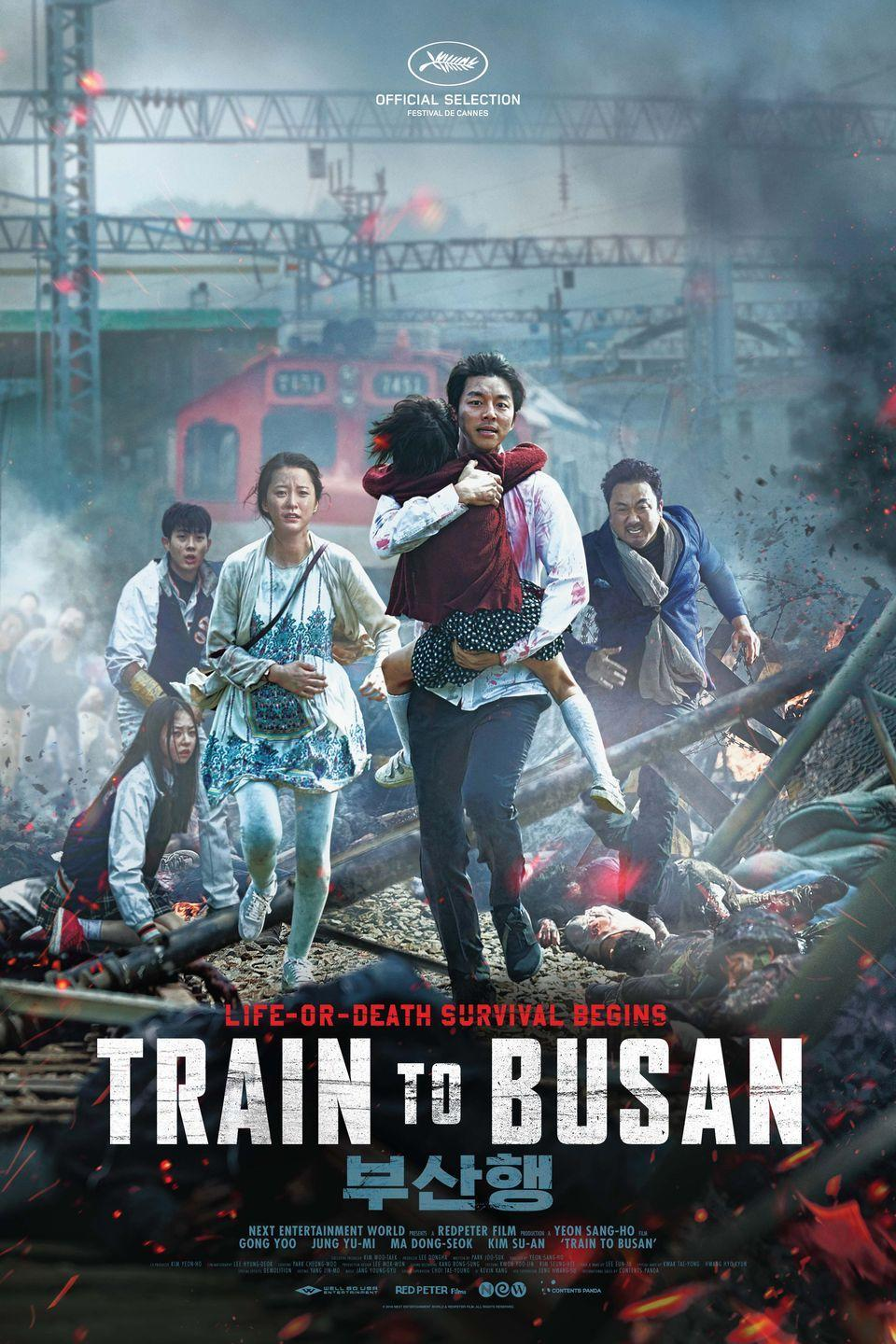 """<p>This South Korean action-thriller about a speeding train full of zombies is often considered one of the best zombie movies ever (even by <a href=""""https://twitter.com/edgarwright/status/794767561057443841"""" rel=""""nofollow noopener"""" target=""""_blank"""" data-ylk=""""slk:Shaun of the Dead's director Edgar Wright"""" class=""""link rapid-noclick-resp""""><em>Shaun of the Dead</em>'s director Edgar Wright</a>!), and for good reason: It's exhilarating, intense, and offers one of the most original and unique takes on the genre. </p><p><a class=""""link rapid-noclick-resp"""" href=""""https://go.redirectingat.com?id=74968X1596630&url=https%3A%2F%2Fwww.hulu.com%2Fmovie%2Ftrain-to-busan-66244938-e0cc-44a6-87cd-0d7468302c89&sref=https%3A%2F%2Fwww.goodhousekeeping.com%2Fholidays%2Fhalloween-ideas%2Fg33546030%2Fbest-zombie-movies%2F"""" rel=""""nofollow noopener"""" target=""""_blank"""" data-ylk=""""slk:WATCH ON HULU"""">WATCH ON HULU</a></p><p><strong>RELATED: </strong><a href=""""https://www.goodhousekeeping.com/life/entertainment/g33446615/korean-movies/"""" rel=""""nofollow noopener"""" target=""""_blank"""" data-ylk=""""slk:The 15 Best Korean Movies You Can Stream Right Now"""" class=""""link rapid-noclick-resp"""">The 15 Best Korean Movies You Can Stream Right Now</a></p>"""