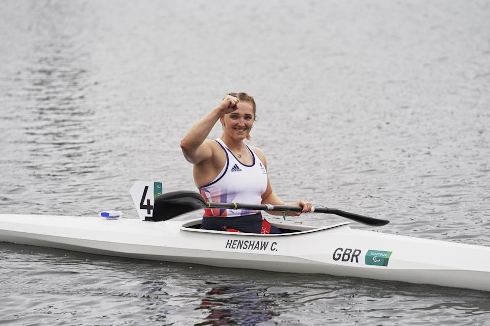 Charlotte Henshaw claimed kayaking gold after switching from swimming (Picture: Imagecomms)