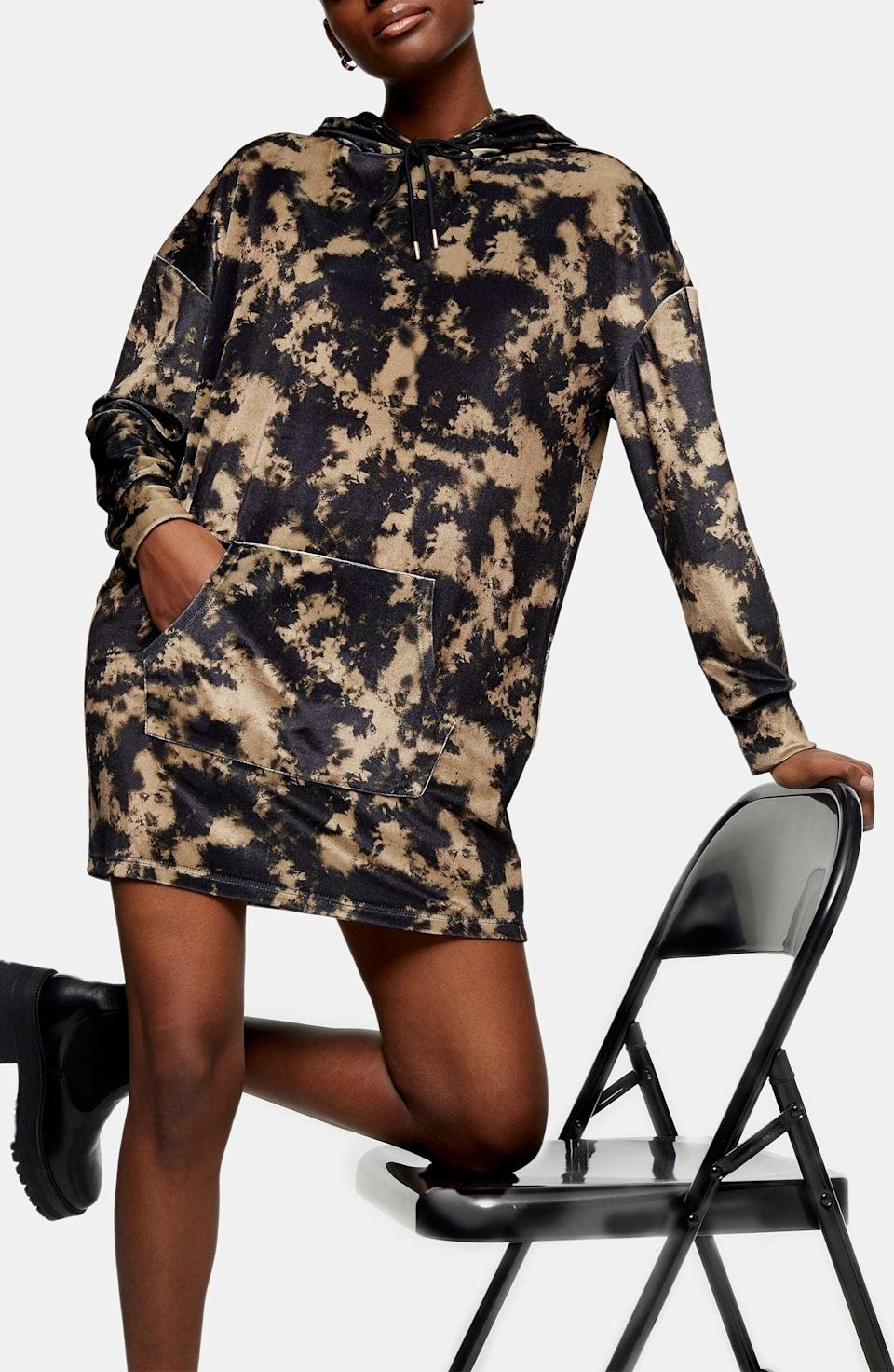 <p>This <span>Topshop Tie Dye Long Sleeve Velvet Sweatshirt Dress</span> ($40, originally $60) is the definition of comfy and cool.</p>