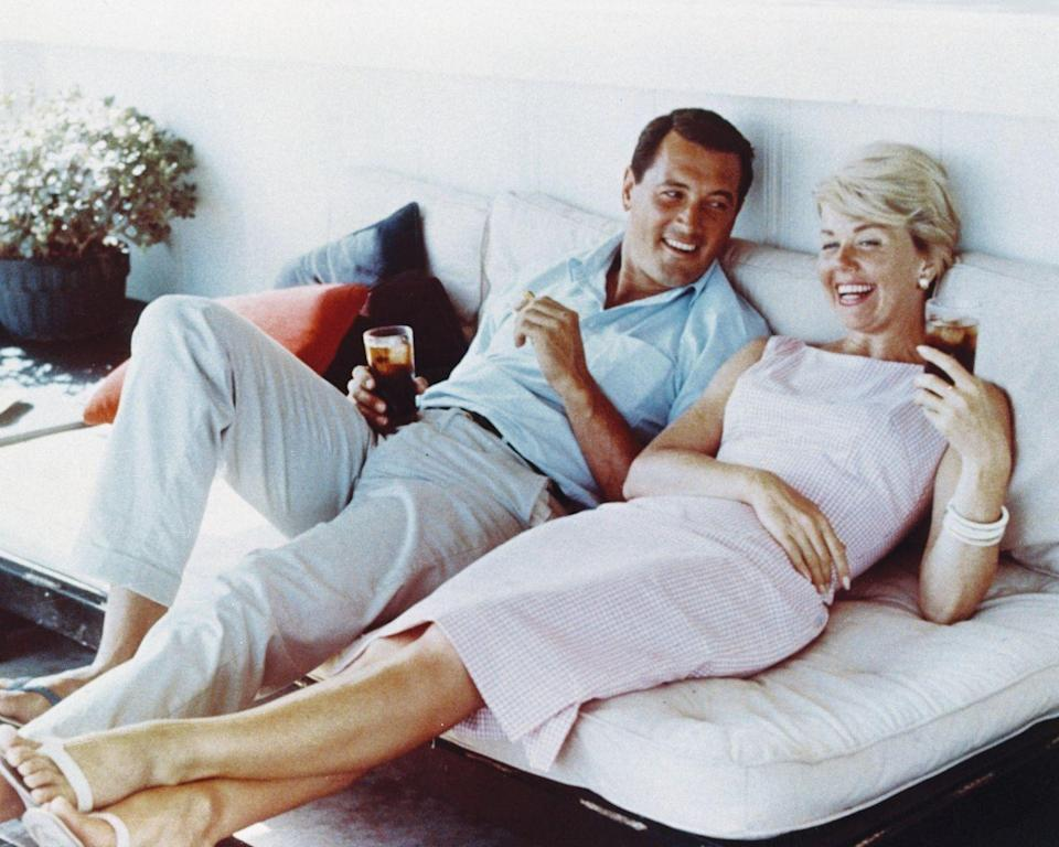 <p>Hudson and Doris Day laughed and drank together. The pair remained friends for the duration of Hudson's life. </p>