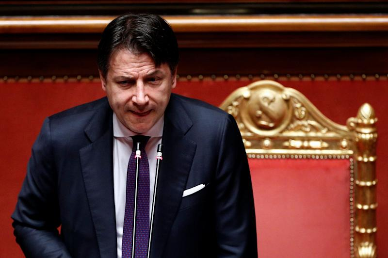 Italy's Prime Minister Giuseppe Conte addresses the upper house of parliament following the EU summit on the recovery fund, sealed to revive economies ravaged by the coronavirus disease (COVID-19) outbreak, in Rome, Italy, July 22, 2020. REUTERS/Guglielmo Mangiapane (Photo: Guglielmo Mangiapane / reuters)