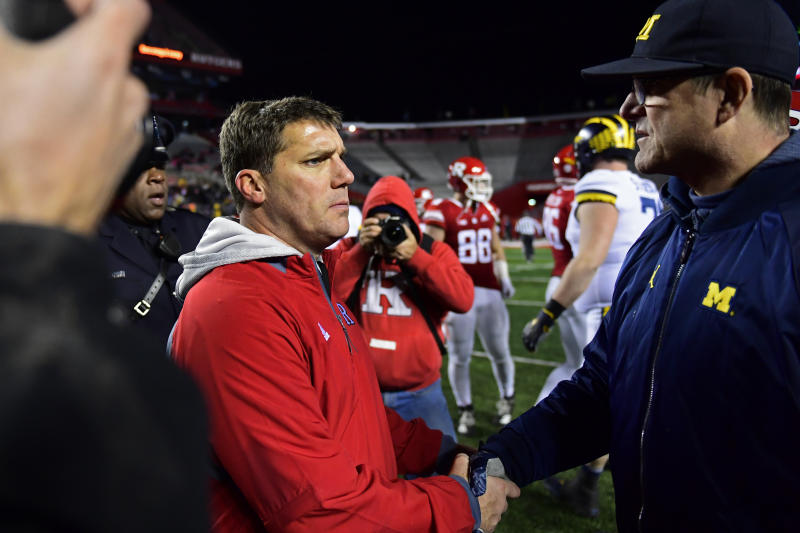jim harbaugh called rutgers coach by the wrong name