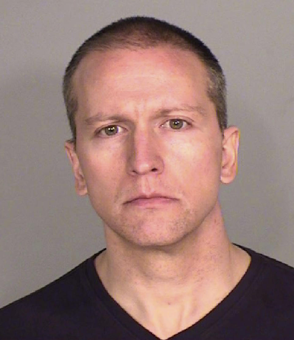 This file photo provided by the Ramsey County, Minn., Sheriff's Office shows former Minneapolis police Officer Derek Chauvin, who was arrested Friday, May 29, 2020, in the Memorial Day death of George Floyd. Chauvin is charged with second-degree murder and manslaughter and jury selection in his trial begins Monday, March 8, 2021. (Ramsey County Sheriff's Office via AP, File)