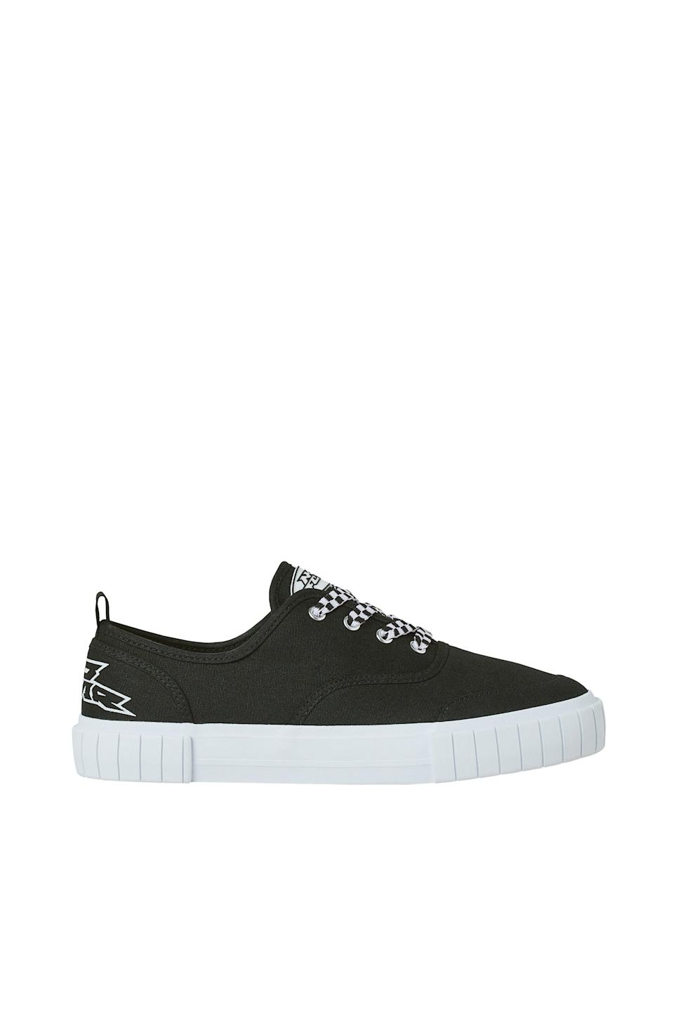 <p>It wouldn't be a skating-inspired collection without a classic pair of skate shoes. These <span>No Fear x H&amp;M Low Profile Canvas Sneakers</span> ($20) go with everything.</p>
