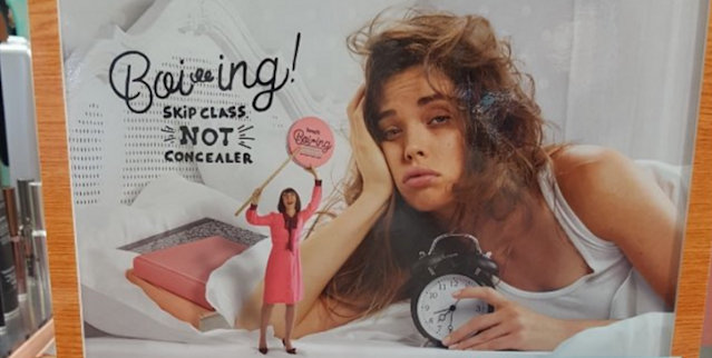 This Benefit Cosmetics ad campaign has left parents, teachers and customers disappointed. (Photo: Twitter/KEEccles)