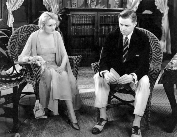 PHOTO: Jeanne Eagels and Reginald Owen are pictured on-set of the 1929 film, 'The Letter.' (Glasshouse Images/Shutterstock)