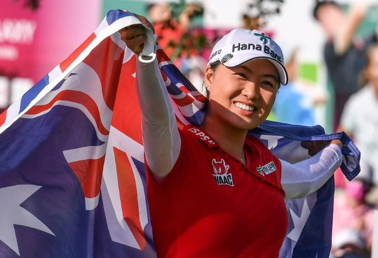 Australia's Minjee Lee celebrates her major breakthrough just over a week ago at Evian Championship in France