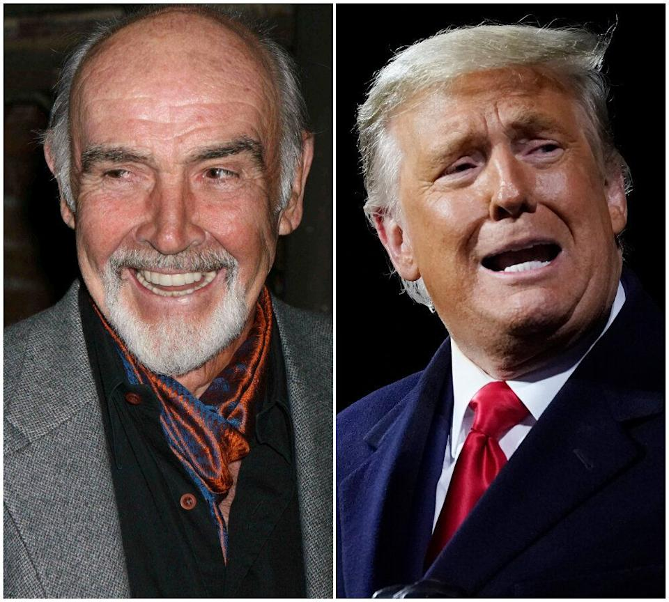 Sean Connery and Donald Trump (Photo: AP)