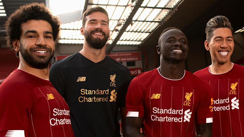 4e7094670 1 from Karius as Liverpool unveil new Bob Paisley-inspired kit for 2019-20