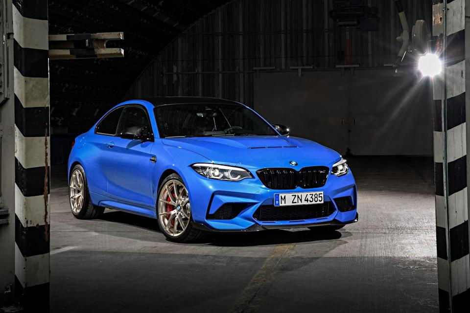"<p>When it comes to max performance, the word ""compromise"" is a curse, but never fear, the <a href=""https://www.caranddriver.com/bmw/m2"" rel=""nofollow noopener"" target=""_blank"" data-ylk=""slk:2021 BMW M2"" class=""link rapid-noclick-resp"">2021 BMW M2</a> doesn't have to put a quarter in the swear jar. Compared with the <a href=""https://www.caranddriver.com/bmw/2-series"" rel=""nofollow noopener"" target=""_blank"" data-ylk=""slk:regular BMW 2-series"" class=""link rapid-noclick-resp"">regular BMW 2-series</a>, this souped-up coupe badass boasts a meaner mug and wider hips, a chassis tuned for attacking racetracks, and a more powerful engine. The hard-charging, high-revving twin-turbo straight-six eats up straightaways quicker than Kobayashi downs hot dogs. While we prepare for the extinction of manual transmissions, this little <a href=""https://www.caranddriver.com/bmw"" rel=""nofollow noopener"" target=""_blank"" data-ylk=""slk:BMW"" class=""link rapid-noclick-resp"">BMW</a> still fights for the resistance. It offers a snappy dual-clutch automatic, too. Its harsh ride and unimpressive interior are less contentious on the more affordable M240i, but the true M car is terrific specifically because it's an uncompromising driver's car.</p><p><a class=""link rapid-noclick-resp"" href=""https://www.caranddriver.com/bmw/m2"" rel=""nofollow noopener"" target=""_blank"" data-ylk=""slk:Review, Pricing, and Specs"">Review, Pricing, and Specs</a></p>"