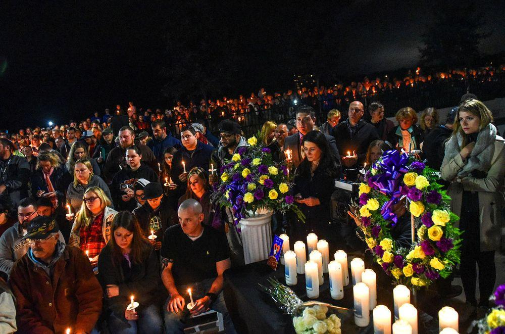 Mourners gather to remember the victims of a deadly limo crash on Saturday in Schoharie, New York