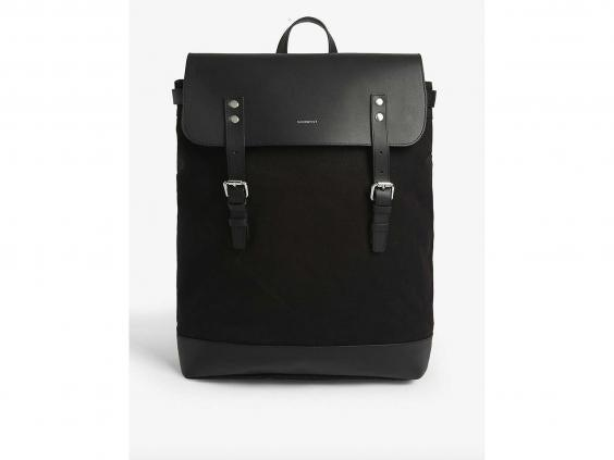For an overnight trip or a new work bag, this canvas rucksack is ideal (Selfridges)
