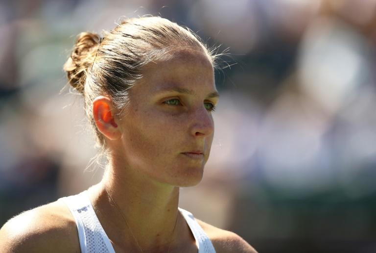 Quarter-final exit: Fifth-ranked Czech Karolina Pliskova on the way to a three-set loss to 23rd-ranked Swiss Belinda Bencic at Indian Wells